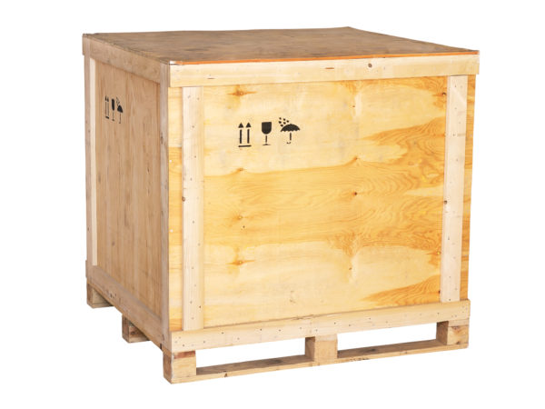 large wooden box on a white background